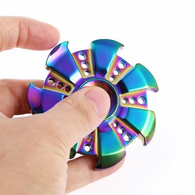 Shining 7-blade Fidget Spinner Stress Relievers ToyFidget Spinners<br>Shining 7-blade Fidget Spinner Stress Relievers Toy<br><br>Center Bearing Material: Stainless Steel Bearing<br>Color: Colorful<br>Features: CNC Build<br>Frame material: Zinc Alloy<br>Package Contents: 1 x Hand Spinner<br>Package size (L x W x H): 9.00 x 9.00 x 2.50 cm / 3.54 x 3.54 x 0.98 inches<br>Package weight: 0.1250 kg<br>Product size (L x W x H): 6.00 x 6.00 x 1.20 cm / 2.36 x 2.36 x 0.47 inches<br>Product weight: 0.0800 kg<br>Swing Numbers: 7<br>Type: Rainbow, Fire Wheel, Polygon