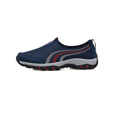 Breathable Slip On Men Casual ShoesHiking Shoes<br>Breathable Slip On Men Casual Shoes<br><br>Color: Deep Blue,Deep Gray<br>Contents: 1 x Pair of Shoes<br>Materials: Mesh, PU, Rubber<br>Occasion: Casual<br>Package Size ( L x W x H ): 33.00 x 22.00 x 11.00 cm / 12.99 x 8.66 x 4.33 inches<br>Package Weights: 0.780kg<br>Pattern Type: Stripe<br>Seasons: Autumn,Spring,Summer<br>Size: 39,40,41,42,43,44<br>Style: Leisure<br>Type: Casual Shoes