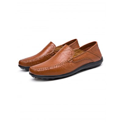 Breathable Genuine Leather Men LoafersCasual Shoes<br>Breathable Genuine Leather Men Loafers<br><br>Color: Black,Cerulean,Deep Brown,Khaki,Light Brown<br>Contents: 1 x Pair of Shoes<br>Materials: Genuine Leather, Rubber<br>Occasion: Casual<br>Package Size ( L x W x H ): 33.00 x 22.00 x 11.00 cm / 12.99 x 8.66 x 4.33 inches<br>Package Weights: 0.680kg<br>Pattern Type: Solid<br>Seasons: Autumn,Spring,Summer<br>Size: 37,38,39,40,41,42,43,44,45<br>Style: Leisure<br>Type: Casual Shoes