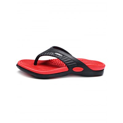 Massage Insole Men\s Flip FlopsMens Slippers<br>Massage Insole Men\s Flip Flops<br><br>Color: Black,Brown,Green,Orange,Red,Yellow<br>Contents: 1 x Pair of Shoes<br>Materials: PU, PVC<br>Occasion: Daily, Casual<br>Package Size ( L x W x H ): 34.00 x 18.00 x 5.00 cm / 13.39 x 7.09 x 1.97 inches<br>Package Weights: 0.320kg<br>Pattern Type: Letter<br>Seasons: Summer<br>Size: 40,41,42,43,44,45<br>Style: Leisure<br>Type: Slippers