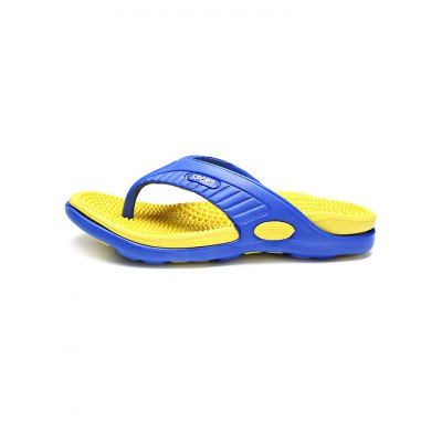 Massage Insole Men Flip FlopsMens Slippers<br>Massage Insole Men Flip Flops<br><br>Color: Black,Brown,Green,Orange,Red,Yellow<br>Contents: 1 x Pair of Shoes<br>Materials: PU, PVC<br>Occasion: Daily, Casual<br>Package Size ( L x W x H ): 34.00 x 18.00 x 5.00 cm / 13.39 x 7.09 x 1.97 inches<br>Package Weights: 0.320kg<br>Pattern Type: Letter<br>Seasons: Summer<br>Size: 40,41,42,43,44,45<br>Style: Leisure<br>Type: Slippers
