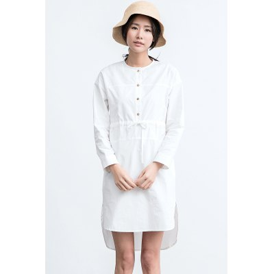 ZIMO Adjustable Strap Long Sleeve Asymmetry DressBottoms<br>ZIMO Adjustable Strap Long Sleeve Asymmetry Dress<br><br>Brand: ZIMO<br>Dresses Length: Knee-Length<br>Material: Cotton<br>Package Contents: 1 x Dress<br>Package size: 36.00 x 2.00 x 27.00 cm / 14.17 x 0.79 x 10.63 inches<br>Package weight: 0.4100 kg<br>Pattern Type: Solid Color<br>Product weight: 0.3700 kg<br>Season: Fall, Summer, Spring<br>Silhouette: Asymmetrical<br>Size: L,M,S,XL<br>Style: Casual<br>With Belt: No