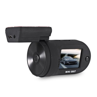 MINI 0807 1080P Car DVR Digital Video RecorderCar DVR<br>MINI 0807 1080P Car DVR Digital Video Recorder<br><br>Anti-shake: No<br>Aperture Range : F/2.0<br>Audio System: Monophony<br>Auto-Power On : Yes<br>Camera Pixel : 2MP<br>Charge way: Car charger<br>Chipset: Ambarella A7LA50<br>Chipset Name: Ambarella<br>Class Rating Requirements: Class 6 or Above<br>Decode Format: H.264<br>Delay Shutdown : Yes<br>Features: HD<br>Function: WDR, HDMI output, Parking Monitoring, GPS, HDR, Loop-cycle Recording, Auto-Power On, Delay Shutdown, Time Stamp, USB-Disk<br>G-sensor: Yes<br>GPS: Yes<br>HDMI Output: Yes<br>HDR: Yes<br>Image Sensor: CMOS<br>Interface Type: Micro USB<br>ISO: Auto<br>Lens Size: 14mm<br>Loop-cycle Recording : Yes<br>Loop-cycle Recording Time: 1min,3min,5min<br>Max External Card Supported: TF 64G (not included)<br>Model: Mini 0807<br>Motion Detection: Yes<br>Motion Detection Distance: 3m<br>Night vision : No<br>Night Vision Distance: 0<br>Operating Temp.: 0 - 40 Deg.C<br>Package Contents: 1 x DVR, 1 x DVR Holder, 1 x Car Charger ( with 30cm Cable ), 1 x GPS Module ( with 3m Length Micro USB Cable ), 1 x USB Cable, 1 x OBD Plug, 6 x Small Size Sticker, 2 x Large Size Sticker, 2 x Medium<br>Package size (L x W x H): 16.00 x 12.00 x 10.00 cm / 6.3 x 4.72 x 3.94 inches<br>Package weight: 0.4400 kg<br>Parking Monitoring: Yes<br>Power Cable Length: 3M<br>Product size (L x W x H): 8.00 x 5.00 x 4.50 cm / 3.15 x 1.97 x 1.77 inches<br>Product weight: 0.0750 kg<br>Screen resolution: 960 x 240<br>Screen size: 1.5inch<br>Screen type: TFT<br>System requirements: Win 7,Win 8,Windows 2000 / XP / Vista<br>Time Stamp: Yes<br>Type: Car DVR with GPS<br>USB Function: USB-Disk<br>Video format: MOV<br>Video Frame Rate: 30fps<br>Video Output : HDMI<br>Video Resolution: 1080P (1920 x 1080)<br>Waterproof: No<br>Waterproof Rating : 0<br>WDR: Yes<br>White Balance Mode: Auto<br>Wide Angle: 135 degree wide angle lens<br>Working Time: Loop recording<br>Working Voltage: 5V