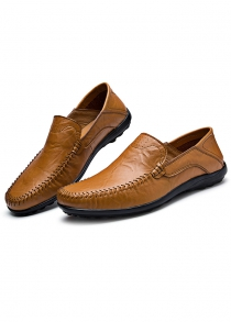Breathable Genuine Leather Men Loafers