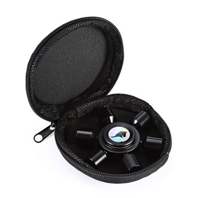 KELIMA Aluminum Alloy Rudder Fidget Spinner Stress Reliever ToyFidget Spinners<br>KELIMA Aluminum Alloy Rudder Fidget Spinner Stress Reliever Toy<br><br>Brand: KELIMA<br>Center Bearing Material: Stainless Steel Bearing<br>Color: Black<br>Features: Detachable, CNC Build<br>Frame material: Aluminum Alloy<br>Package Contents: 1 x Fidget Spinner, 1 x Box<br>Package size (L x W x H): 9.00 x 9.00 x 4.00 cm / 3.54 x 3.54 x 1.57 inches<br>Package weight: 0.0740 kg<br>Product size (L x W x H): 6.00 x 6.00 x 1.50 cm / 2.36 x 2.36 x 0.59 inches<br>Product weight: 0.0440 kg<br>Rotating time: 90 seconds<br>Swing Numbers: 6<br>Type: Steering Wheel, Polygon, Fire Wheel