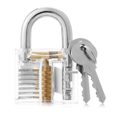 HakkaDeal Transparent Practice Lock Tool SetLock Picks and Tools<br>HakkaDeal Transparent Practice Lock Tool Set<br><br>Brand: HakkaDeal<br>Materials: Acrylic, Stainless Steel<br>Package Contents: 1 x Lock, 2 x Key, 10 x Broken Key Extractor<br>Package size (L x W x H): 9.00 x 6.00 x 4.00 cm / 3.54 x 2.36 x 1.57 inches<br>Package weight: 0.1650 kg<br>Packing Type: Kits<br>Product size (L x W x H): 8.00 x 5.00 x 2.00 cm / 3.15 x 1.97 x 0.79 inches<br>Product weight: 0.1420 kg<br>Special function: Practice Lock Tool Set