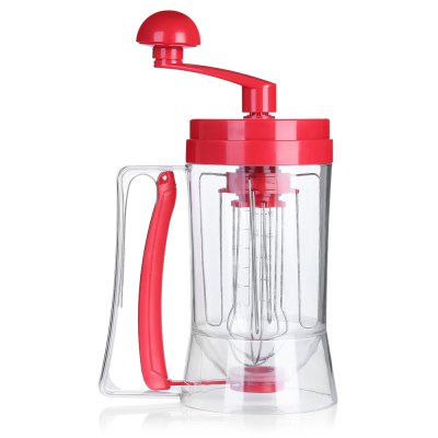 Manual Pancake Machine Cake Batter Mix DispenserBaking &amp; Pastry Tools<br>Manual Pancake Machine Cake Batter Mix Dispenser<br><br> Product weight: 0.4700 kg<br>Available Color: Red<br>Material: Silicone, Stainless Steel<br>Package Contents: 1 x Batter Dispenser<br>Package size (L x W x H): 18.50 x 12.40 x 24.70 cm / 7.28 x 4.88 x 9.72 inches<br>Package weight: 0.6150 kg<br>Product size (L x W x H): 27.50 x 11.30 x 11.30 cm / 10.83 x 4.45 x 4.45 inches<br>Type: Bakeware