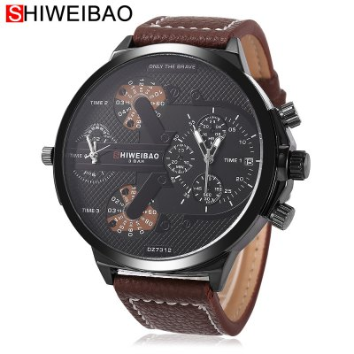 SHI WEI BAO A6132 Male Dual Quartz Watch