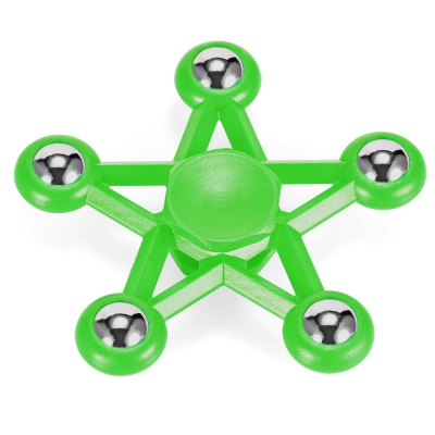 Five-pointed Star Plastic ADHD Hand SpinnerFidget Spinners<br>Five-pointed Star Plastic ADHD Hand Spinner<br><br>Center Bearing Material: Stainless Steel Bearing<br>Color: Green<br>Frame material: ABS<br>Package Contents: 1 x Fidget Spinner<br>Package size (L x W x H): 10.00 x 10.00 x 2.00 cm / 3.94 x 3.94 x 0.79 inches<br>Package weight: 0.0750 kg<br>Product size (L x W x H): 7.50 x 7.50 x 1.50 cm / 2.95 x 2.95 x 0.59 inches<br>Product weight: 0.0450 kg<br>Swing Numbers: 5<br>Type: Fire Wheel, Polygon, Steel Ball