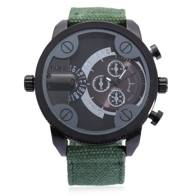 SHI WEI BAO J3132 Men Quartz Canvas Band WatchMens Watches<br>SHI WEI BAO J3132 Men Quartz Canvas Band Watch<br><br>Band material: Canvas<br>Band size: 27 x 2.40cm / 10.63 x 0.94 inches<br>Brand: Shiweibao<br>Case material: Alloy<br>Clasp type: Pin buckle<br>Dial size: 5.0 x 5.0 x 1.5cm / 1.97 x 1.97 x 0.59 inches<br>Display type: Analog<br>Movement type: Double-movtz<br>Package Contents: 1 x SHI WEI BAO Men Quartz Watch<br>Package size (L x W x H): 10.00 x 8.00 x 7.50 cm / 3.94 x 3.15 x 2.95 inches<br>Package weight: 0.1810 kg<br>Product size (L x W x H): 27.00 x 5.00 x 1.50 cm / 10.63 x 1.97 x 0.59 inches<br>Product weight: 0.0790 kg<br>Shape of the dial: Round<br>Special features: Multi Time Zones, Luminous<br>Watch color: Black, Green<br>Watch mirror: Mineral glass<br>Watch style: Casual, Fashion<br>Watches categories: Male table<br>Water resistance : 30 meters<br>Wearable length: 18.00 - 25.00cm / 7.09 - 9.84 inches