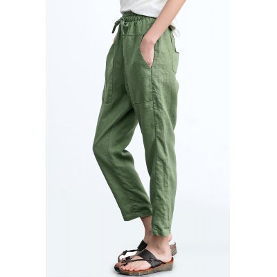 ZIMO Big Pocket Women Casual Pants with Adjustable WaistBottoms<br>ZIMO Big Pocket Women Casual Pants with Adjustable Waist<br><br>Brand: ZIMO<br>Closure Type: Elastic Waist<br>Fit Type: Loose<br>Length: Ninth<br>Material: Linen<br>Package Contents: 1 x Pair of ZIMO Pants<br>Package Size ( L x W x H ): 37.00 x 2.00 x 26.00 cm / 14.57 x 0.79 x 10.24 inches<br>Package Weights: 0.350kg<br>Waist Type: Mid