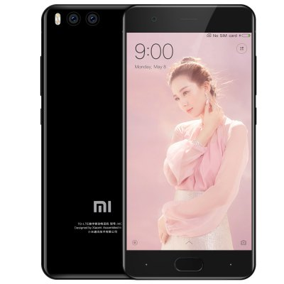 Gearbest Xiaomi Mi 6 4G Smartphone  -  INTERNATIONAL VERSION 6GB RAM 64GB ROM  PHOTO BLACK