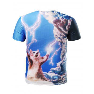 3D Lightning Short Sleeve Hilarious T ShirtsMens Short Sleeve Tees<br>3D Lightning Short Sleeve Hilarious T Shirts<br><br>Fabric Type: Cotton, Polyester<br>Neckline: Round Neck<br>Package Content: 1 x T Shirt<br>Package size: 32.00 x 28.00 x 2.00 cm / 12.6 x 11.02 x 0.79 inches<br>Package weight: 0.3200 kg<br>Product weight: 0.2600 kg<br>Season: Summer, Spring, Autumn<br>Size: L,M,XL,XXL,XXXL<br>Sleeve Length: Short Sleeves<br>Style: Casual