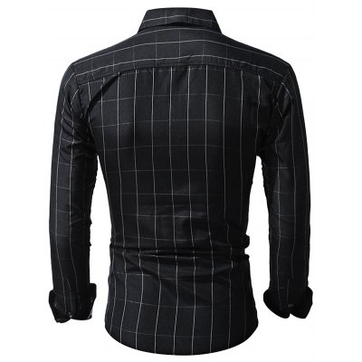 WSGYJ Slim Fit Men's Small Plaid Shirts
