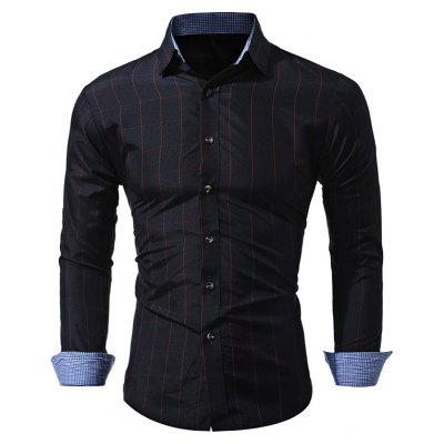 WSGYJ Slim Fit Men\'s Small Plaid Shirts