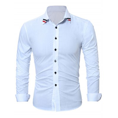 WSGYJ Slim Fit Plain Men ShirtsMens Shirts<br>WSGYJ Slim Fit Plain Men Shirts<br><br>Brand: WSGYJ<br>Color: Black,White<br>Material: Cotton<br>Package Contents: 1 x WSGYJ Shirt<br>Package size: 40.00 x 30.00 x 2.00 cm / 15.75 x 11.81 x 0.79 inches<br>Package weight: 0.3000 kg<br>Product weight: 0.2500 kg<br>Size: L,M,XL,XXL,XXXL