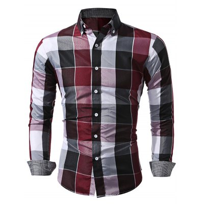 WSGYJ Slim Fit Plaid Shirts for MenMens Shirts<br>WSGYJ Slim Fit Plaid Shirts for Men<br><br>Brand: WSGYJ<br>Color: Blue,Red<br>Material: Cotton<br>Package Contents: 1 x WSGYJ Shirt<br>Package size: 40.00 x 30.00 x 2.00 cm / 15.75 x 11.81 x 0.79 inches<br>Package weight: 0.3000 kg<br>Product weight: 0.2500 kg<br>Size: L,M,XL,XXL,XXXL
