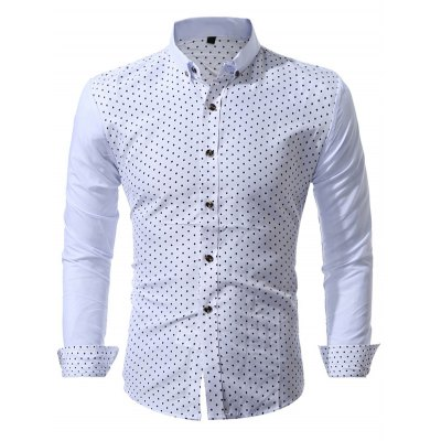 WSGYJ Mushroom Printed Men's Casual Shirts