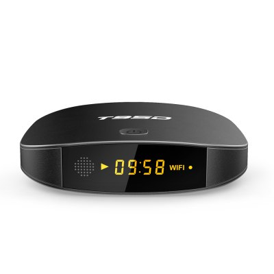 SUNVELL T95D TV BoxTV Box<br>SUNVELL T95D TV Box<br><br>Audio format: APE, WMA, WAV, OGG, AC3, MP3, HD, FLAC, DTS, DDP, AAC<br>Brand: Sunvell<br>Color: Black<br>Core: Quad Core<br>CPU: RK3229<br>Decoder Format: H.265<br>GPU: Mali-400<br>Interface: USB2.0, TF card<br>Language: Multi-language<br>Max. Extended Capacity: 32G<br>Model: T95D<br>Package Contents: 1 x SUNVELL T95D TV Box, 1 x Power Adapter, 1 x HDMI Cable, 1 x English User Manual<br>Package size (L x W x H): 16.00 x 16.00 x 9.60 cm / 6.3 x 6.3 x 3.78 inches<br>Package weight: 0.3400 kg<br>Photo Format: BMP, JPEG, GIF, TIFF, PNG<br>Power Comsumption: 5W<br>Power Supply: Charge Adapter<br>Power Type: External Power Adapter Mode<br>Product size (L x W x H): 10.20 x 10.20 x 2.30 cm / 4.02 x 4.02 x 0.91 inches<br>Product weight: 0.1500 kg<br>RAM: 1G RAM<br>RAM Type: DDR3<br>RJ45 Port Speed: 100M<br>ROM: 8G ROM<br>System: Android 6.0<br>System Bit: 64Bit<br>Type: TV Box<br>Video format: ISO, WMV, VOB, TS, RMVB, RM, MPG, 4K, MPEG, MKV, AVI, DAT, FLV, ASF