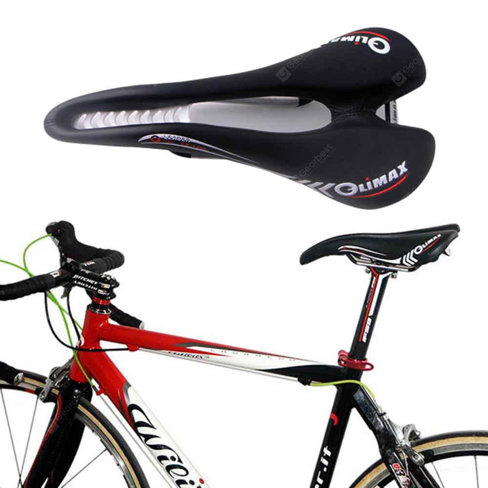 Comfortable Genuine Leather Bike Saddle Seat Cushion Road Folding BLACK