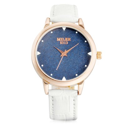 MILER 8313 Quartz Watch for WomenWomens Watches<br>MILER 8313 Quartz Watch for Women<br><br>Band material: Leather<br>Band size: 22.00 x 2.00 cm / 8.66 x 0.78 inches<br>Brand: Miler<br>Case material: Alloy<br>Clasp type: Pin buckle<br>Dial size: 3.60 x 3.60 x 0.93 cm / 1.42 x 1.42 x 0.37 inches<br>Display type: Analog<br>Movement type: Quartz watch<br>Package Contents: 1 x Quarzt MILER 8313 Watch<br>Package size (L x W x H): 24.00 x 4.50 x 2.00 cm / 9.45 x 1.77 x 0.79 inches<br>Package weight: 0.0650 kg<br>Product size (L x W x H): 22.00 x 3.60 x 0.93 cm / 8.66 x 1.42 x 0.37 inches<br>Product weight: 0.0340 kg<br>Shape of the dial: Round<br>Watch color: Black, White, Pink, Red, Purple, Brown<br>Watch style: Casual<br>Watches categories: Female table<br>Water resistance : Life water resistant<br>Wearable length: 16.00 - 20.00 cm / 6.29 - 7.87 inches