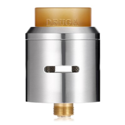 Original Augvape Druga 24mm RDARebuildable Atomizers<br>Original Augvape Druga 24mm RDA<br><br>Brand: Augvape<br>Material: Stainless Steel<br>Model: Druga<br>Overall Diameter: 24mm<br>Package Contents: 1 x Atomizer, 1 x Augvape Druga 24mm RDA, 4 x Insulated Ring, 1 x Drip Tip, 1 x 510 Adapter, 1 x Screw, 1 x Allen Key<br>Package size (L x W x H): 7.80 x 4.50 x 4.50 cm / 3.07 x 1.77 x 1.77 inches<br>Package weight: 0.0910 kg<br>Product size (L x W x H): 3.40 x 2.40 x 2.40 cm / 1.34 x 0.94 x 0.94 inches<br>Product weight: 0.0390 kg<br>Rebuildable Atomizer: RBA,RDA<br>Thread: 510<br>Type: Rebuildable Drippers, Rebuildable Atomizer