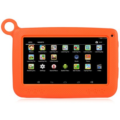 716 Kids Tablet PCFeatured Tablets<br>716 Kids Tablet PC<br><br>3.5mm Headphone Jack: Yes<br>AC adapter: 100-240V 5V 2A<br>Back camera: 0.3MP<br>Battery Capacity: 3.7V / 3000mAh<br>Bluetooth: Yes<br>Camera type: Dual cameras (one front one back)<br>Core: Quad Core, 1.2GHz<br>CPU: RK3126<br>CPU Brand: Rockchip<br>DC Jack: Yes<br>English Manual : 1<br>External Memory: TF card up to 32GB (not included)<br>Front camera: 0.3MP<br>G-sensor: Supported<br>Google Play Store: Supported<br>GPS: Yes<br>GPU: Mali-400<br>Languages support : Supports multi-language as the screenshots<br>Material of back cover: Plastic<br>MIC: Supported<br>Micro USB Slot: Yes<br>MS Office format: Word, Excel, PPT<br>Music format: AAC, MP3, WAV, OGG, WMA<br>OS: Android 4.4<br>Package size: 23.50 x 16.00 x 6.00 cm / 9.25 x 6.3 x 2.36 inches<br>Package weight: 0.6230 kg<br>Picture format: JPEG, GIF, BMP, PNG<br>Power Adapter: 1<br>Product size: 19.10 x 12.80 x 1.20 cm / 7.52 x 5.04 x 0.47 inches<br>Product weight: 0.3070 kg<br>RAM: 512MB<br>ROM: 8GB<br>Screen resolution: 1024 x 600 (WSVGA)<br>Screen size: 7 inch<br>Screen type: Capacitive<br>Skype: Supported<br>Speaker: Supported<br>Support Network: WiFi<br>Tablet Case: 1<br>Tablet PC: 1<br>TF card slot: Yes<br>Type: Kids Tablet<br>USB Cable: 1<br>Video format: WMV, AVI, 3GP, RMVB<br>Video recording: Yes<br>WIFI: 802.11b/g/n wireless internet<br>Youtube: Supported