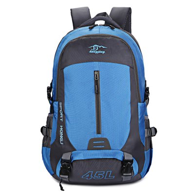 HONGJING 1045 BackpackBackpacks<br>HONGJING 1045 Backpack<br><br>Bag Capacity: 45L<br>Brand: HONGJING<br>Capacity: Above 40L<br>For: Climbing, Traveling, Camping<br>Gender: Unisex<br>Material: Nylon<br>Package Contents: 1 x HONGJING 1045 Backpack<br>Package size (L x W x H): 31.00 x 10.00 x 32.00 cm / 12.2 x 3.94 x 12.6 inches<br>Package weight: 0.9400 kg<br>Product size (L x W x H): 30.00 x 18.00 x 55.00 cm / 11.81 x 7.09 x 21.65 inches<br>Product weight: 0.8100 kg<br>Strap Length: 45 - 80cm<br>Style: Fashion<br>Type: Backpack