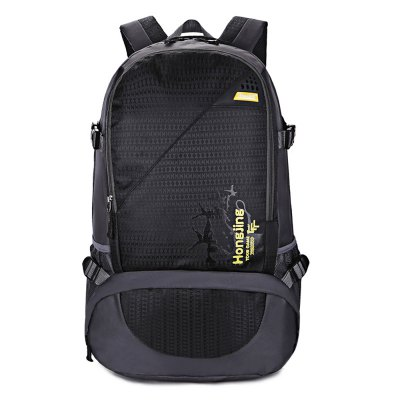 HONGJING 1041 BackpackBackpacks<br>HONGJING 1041 Backpack<br><br>Bag Capacity: 40L<br>Brand: HONGJING<br>Capacity: 31 - 40L<br>For: Camping, Climbing, Traveling<br>Gender: Unisex<br>Material: Nylon, Polyester<br>Package Contents: 1 x HONGJING 1041 Backpack<br>Package size (L x W x H): 31.00 x 10.00 x 33.00 cm / 12.2 x 3.94 x 12.99 inches<br>Package weight: 0.8700 kg<br>Product size (L x W x H): 30.00 x 22.00 x 57.00 cm / 11.81 x 8.66 x 22.44 inches<br>Product weight: 0.7400 kg<br>Strap Length: 45 - 80cm<br>Style: Fashion<br>Type: Backpack