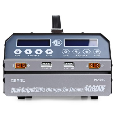 SKYRC PC1080 Dual-channel Balance ChargerCharger<br>SKYRC PC1080 Dual-channel Balance Charger<br><br>Brand: SKYRC<br>Charger Power Supply: AC<br>Input Voltage (V)  : 100 - 240V<br>Package Contents: 1 x Balance Charger, 1 x Data Cable, 1 x Power Cable, 1 x English Manual<br>Package size (L x W x H): 37.80 x 25.00 x 16.80 cm / 14.88 x 9.84 x 6.61 inches<br>Package weight: 5.6100 kg<br>Product size (L x W x H): 27.20 x 20.20 x 11.86 cm / 10.71 x 7.95 x 4.67 inches<br>Product weight: 5.0100 kg<br>Type: Balance Charger