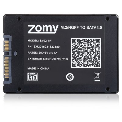 ZOMY S102 - 1N M.2 NGFF SSD to SATA 3.0 Enclosure Case