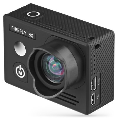 HawKeye Firefly 8S 4K Sports Camera No Distortion VersionAction Cameras<br>HawKeye Firefly 8S 4K Sports Camera No Distortion Version<br><br>Aerial Photography: Yes<br>Anti-shake: Yes<br>Application: Aerial Photography, Underwater, Ski, Extreme Sports<br>Auto Focusing: No<br>Battery Capacity (mAh): 1200mAh<br>Battery Type: Removable<br>Brand: Hawkeye<br>Camera Timer: Yes<br>Charge way: USB charge by PC<br>Charging Time: 2.5h<br>Chipset: Ambarella A12S75<br>Chipset Name: Ambarella<br>Features: Wireless<br>Function: Remote Control, Waterproof, Camera Timer, Anti-Shake, WiFi<br>Image Format : JPG<br>Lens Diameter: 12mm<br>Max External Card Supported: TF 128G (not included)<br>Model: Firefly 8S ( No Distortion Version )<br>Night vision : No<br>Package Contents: 1 x FIREFLY 8S 4K WiFi Sport HD DV Camera, 1 x Waterproof Case, 1 x J-shaped Mount, 1 x Long Connector + Screw, 2 x Short Connector + Screw, 1 x Bike Handlebar Seatpost Pole Mount, 1 x 360 Degree Rota<br>Package size (L x W x H): 27.00 x 15.00 x 10.00 cm / 10.63 x 5.91 x 3.94 inches<br>Package weight: 0.6500 kg<br>Product size (L x W x H): 5.90 x 2.10 x 4.10 cm / 2.32 x 0.83 x 1.61 inches<br>Product weight: 0.0700 kg<br>Screen: With Screen<br>Screen resolution: 640x480<br>Screen size: 2.0inch<br>Screen type: LCD<br>Standby time: 5h<br>Type: Sports Camera<br>Type of Camera: 4K<br>Video format: MP4<br>Video Frame Rate: 120fps,240fps,30FPS,60FPS<br>Video Resolution: 1080P (120fps),1080P(60fps),2.5K (60fps),2.7K (30fps),4K (3840 x 2160),720P (240fps)<br>Water Resistant: 20m ( with waterproof case )<br>Waterproof: Yes<br>Wide Angle: 90 degree wide angle lens<br>WIFI: Yes<br>WiFi Distance : 10m<br>Working Time: 1.33h