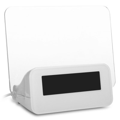 Message Board Alarm ClockHome Gadgets<br>Message Board Alarm Clock<br><br>Material: Plastic<br>Package Contents: 1 x Message Board Clock, 1 x Chinese / English User Manual, 1 x Highlighter<br>Package size (L x W x H): 15.20 x 13.20 x 7.70 cm / 5.98 x 5.2 x 3.03 inches<br>Package weight: 0.2090 kg<br>Product size (L x W x H): 13.90 x 11.70 x 6.30 cm / 5.47 x 4.61 x 2.48 inches<br>Product weight: 0.1410 kg