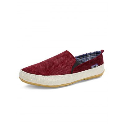 Slip-on Casual Men Canvas ShoesMen's Oxford<br>Slip-on Casual Men Canvas Shoes<br><br>Color: Brown,Deep Blue,Green,Red<br>Contents: 1 x Pair of Shoes<br>Materials: Canvas, Rubber<br>Occasion: Daily, Casual<br>Package Size ( L x W x H ): 33.00 x 22.00 x 11.00 cm / 12.99 x 8.66 x 4.33 inches<br>Package Weights: 0.380kg<br>Pattern Type: Solid<br>Seasons: Autumn,Spring,Summer<br>Size: 39,40,41,42,43,44<br>Style: Leisure<br>Type: Casual Shoes