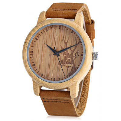 BOBO BIRD D14 Bamboo Men Quartz Watch