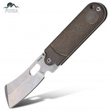 FURA Pocket No Lock Folding Knife with S35VN Steel Blade