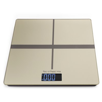180KG 50G Electronic Weight ScaleDigital Scales<br>180KG 50G Electronic Weight Scale<br><br>Material             : Others<br>Package Contents: 1 x Scale, 2 x AAA Battery, 1 x Chinese User Manual<br>Package size (L x W x H): 31.00 x 31.00 x 4.00 cm / 12.2 x 12.2 x 1.57 inches<br>Package weight: 1.1700 kg<br>Product size (L x W x H): 28.00 x 28.00 x 1.80 cm / 11.02 x 11.02 x 0.71 inches<br>Product weight: 1.0620 kg<br>Type: Body Scale