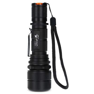 UltraFire UF - 6880 LED USB Rechargeable Flashlight with ChargerLED Flashlights<br>UltraFire UF - 6880 LED USB Rechargeable Flashlight with Charger<br><br>Battery Included or Not: No<br>Battery Quantity: 1<br>Battery Type: 18650<br>Beam Distance: 150-200m<br>Body Material: Aluminium Alloy<br>Brand: Ultrafire<br>Color Temperature: 6000 - 7500K<br>Emitters: Cree XM-L2<br>Emitters Quantity: 1<br>Feature: Adjustable brightness, Pocket Clip<br>Flashlight size: EDC<br>Flashlight Type: Handheld<br>Function: EDC, Diving, Camping, Diving/boating<br>Light color: Cool White<br>Lumens Range: 500-1000Lumens<br>Luminous Flux: 950Lm<br>Mode: 5 ( High; Mid; Low; Quick Flash,  Slow Flash )<br>Model: UF - 6880<br>Package Contents: 1 x Flashlight, 1 x US Plug Charger<br>Package size (L x W x H): 9.00 x 5.00 x 16.00 cm / 3.54 x 1.97 x 6.3 inches<br>Package weight: 0.2600 kg<br>Product size (L x W x H): 14.50 x 4.00 x 4.00 cm / 5.71 x 1.57 x 1.57 inches<br>Product weight: 0.1750 kg<br>Switch Location: Tail Cap<br>Zooming Function: Yes