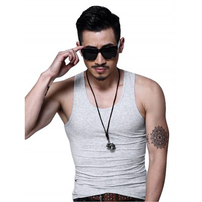 Slim Breathable Men\s Fitness VestMens Short Sleeve Tees<br>Slim Breathable Men\s Fitness Vest<br><br>Clothing Length: Regular<br>Material: Cotton, Spandex<br>Package Contents: 1 x Vest<br>Package size: 40.00 x 30.00 x 2.00 cm / 15.75 x 11.81 x 0.79 inches<br>Package weight: 0.2400 kg<br>Pattern Type: Solid Color<br>Product weight: 0.2000 kg<br>Size: L,M,XL,XXL,XXXL<br>Style: Active