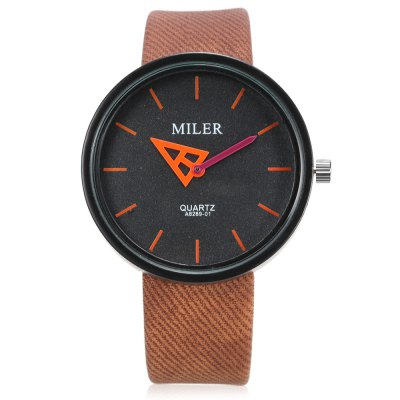 MILER A8289 - 01 Unisex Quartz WatchUnisex Watches<br>MILER A8289 - 01 Unisex Quartz Watch<br><br>Band material: Leather<br>Band size: 22.00 x 2.00 cm / 8.66 x 0.78 inches<br>Brand: Miler<br>Case material: Alloy<br>Clasp type: Pin buckle<br>Dial size: 4.10 x 4.10 x 0.95 cm / 1.61 x 1.61 x 0.37 inches<br>Display type: Analog<br>Movement type: Quartz watch<br>Package Contents: 1 x MILER A8289 - 01 Quartz Watch<br>Package size (L x W x H): 24.00 x 5.60 x 2.30 cm / 9.45 x 2.2 x 0.91 inches<br>Package weight: 0.0760 kg<br>People: Unisex table<br>Product size (L x W x H): 22.00 x 4.10 x 0.95 cm / 8.66 x 1.61 x 0.37 inches<br>Product weight: 0.0460 kg<br>Shape of the dial: Round<br>Watch color: Black, White, Red, Yellow, Blue, Brown, Orange, Rose red<br>Watch style: Casual<br>Wearable length: 16.00 - 21.00 cm / 6.29 - 8.26 inches