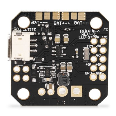 PIKO BLX Micro Brushless F3 Flight ControllerFlight Controller<br>PIKO BLX Micro Brushless F3 Flight Controller<br><br>Flight Controller Type: F3<br>Package Contents: 1 x Flight Controller, 1 x Pin Header<br>Package size (L x W x H): 3.70 x 3.60 x 1.70 cm / 1.46 x 1.42 x 0.67 inches<br>Package weight: 0.0140 kg<br>Product size (L x W x H): 2.70 x 2.60 x 0.70 cm / 1.06 x 1.02 x 0.28 inches<br>Product weight: 0.0060 kg<br>Type: Flight Controller