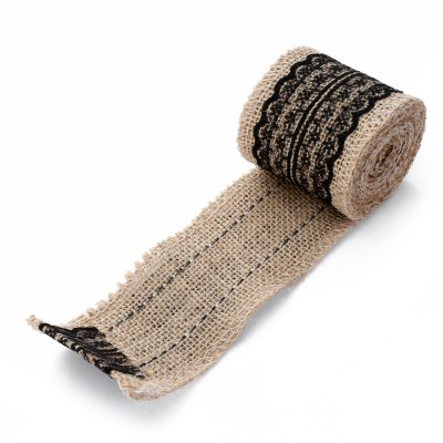 Natural Burlap Craft Ribbon Roll with LaceBirthday Supplies<br>Natural Burlap Craft Ribbon Roll with Lace<br><br>Package Contents: 1 x Burlap Roll<br>Package size (L x W x H): 6.00 x 4.00 x 6.00 cm / 2.36 x 1.57 x 2.36 inches<br>Package weight: 0.0450 kg<br>Product size (L x W x H): 200.00 x 6.00 x 0.20 cm / 78.74 x 2.36 x 0.08 inches<br>Product weight: 0.0200 kg<br>Usage: Wedding, Party, New Year, Christmas, Birthday