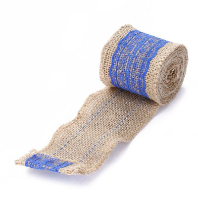 Natural Burlap Craft Ribbon Roll with Lace Palm Bay Продам товары
