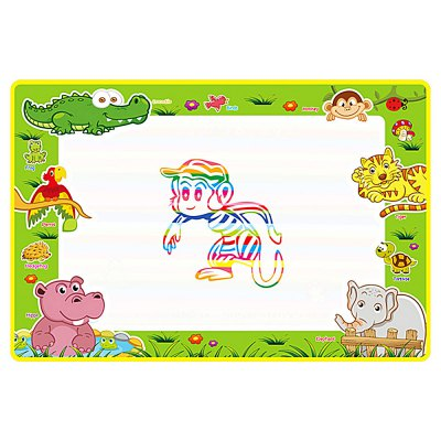 Cute Animal Pattern Water Drawing Mat Doodle BoardOther Educational Toys<br>Cute Animal Pattern Water Drawing Mat Doodle Board<br><br>Completeness: Finished Goods<br>Gender: Unisex<br>Materials: Other<br>Package Contents: 1 x Drawing Mat, 2 x Pen<br>Package size: 50.00 x 38.00 x 2.00 cm / 19.69 x 14.96 x 0.79 inches<br>Package weight: 0.1250 kg<br>Product size: 74.00 x 49.00 x 0.50 cm / 29.13 x 19.29 x 0.2 inches<br>Product weight: 0.1200 kg<br>Stem From: China<br>Theme: Animals