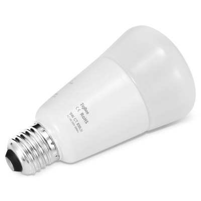 JIAWEN Zigbee Smartphone Control Dimmable LED BulbGlobe bulbs<br>JIAWEN Zigbee Smartphone Control Dimmable LED Bulb<br><br>Available Light Color: Cool White,Warm White<br>Brand: JIAWEN<br>CCT/Wavelength: 2700 - 6500K<br>Features: Long Life Expectancy<br>Function: Outdoor lighting,  including building and landscape beautification,  public places,  playing fields,  stage lighting, Home Lighting, Commercial Lighting<br>Holder: E27<br>Luminous Flux: 850 LM<br>Output Power: 9W<br>Package Contents: 1 x LED Bulb<br>Package size (L x W x H): 8.00 x 9.00 x 14.50 cm / 3.15 x 3.54 x 5.71 inches<br>Package weight: 0.1980 kg<br>Product size (L x W x H): 6.70 x 6.70 x 12.20 cm / 2.64 x 2.64 x 4.8 inches<br>Product weight: 0.1230 kg<br>Sheathing Material: Aluminum, PC, Glass<br>Type: Mini Bulb<br>Voltage (V): AC 100-240V<br>Wattage Range: 5-10W