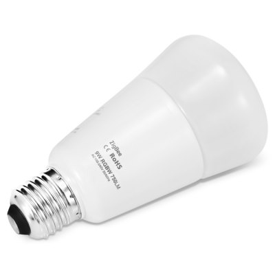 JIAWEN Zigbee Smartphone Control Dimmable LED BulbGlobe bulbs<br>JIAWEN Zigbee Smartphone Control Dimmable LED Bulb<br><br>Available Light Color: RGBW<br>Brand: JIAWEN<br>Features: Long Life Expectancy<br>Function: stage lighting,  playing fields,  public places,  including building and landscape beautification, Outdoor lighting, Home Lighting, Commercial Lighting<br>Holder: E27<br>Luminous Flux: 850 LM<br>Output Power: 9W<br>Package Contents: 1 x LED Bulb<br>Package size (L x W x H): 8.00 x 9.00 x 14.50 cm / 3.15 x 3.54 x 5.71 inches<br>Package weight: 0.1980 kg<br>Product size (L x W x H): 6.70 x 6.70 x 12.20 cm / 2.64 x 2.64 x 4.8 inches<br>Product weight: 0.1230 kg<br>Sheathing Material: Aluminum, PC, Glass<br>Type: Mini Bulb<br>Voltage (V): AC 100-240V<br>Wattage Range: 5-10W