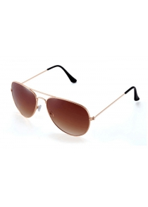 Fashionable Retro UV400 Sunglasses PC Eyewear Metal Frame Eyes Protector Outdoor Leisure Necessities
