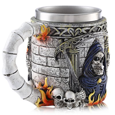 Cartoon Skull 3D Relief MugWater Cup &amp; Bottle<br>Cartoon Skull 3D Relief Mug<br><br>Material: Stainless Steel<br>Package Contents: 1 x Mug<br>Package size (L x W x H): 21.50 x 16.70 x 14.50 cm / 8.46 x 6.57 x 5.71 inches<br>Package weight: 0.4820 kg<br>Product size (L x W x H): 11.40 x 14.00 x 9.00 cm / 4.49 x 5.51 x 3.54 inches<br>Product weight: 0.3460 kg