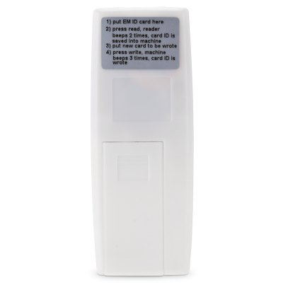 CP303 Handheld 125KHz RFID EM ID Smart Card Reader CopierAccess Control<br>CP303 Handheld 125KHz RFID EM ID Smart Card Reader Copier<br><br>Model: CP303<br>Package Contents: 1 x RFID Card Copier, 5 x Writable RFID Key Fob, 1 x English User Manual, 5 x Writable RFID Card<br>Package size (L x W x H): 15.00 x 10.50 x 4.00 cm / 5.91 x 4.13 x 1.57 inches<br>Package weight: 0.1360 kg<br>Product size (L x W x H): 10.40 x 4.00 x 1.40 cm / 4.09 x 1.57 x 0.55 inches<br>Product weight: 0.0260 kg<br>Receiving Freq.: 125KHz<br>Type ( Access Control ): Card Copier