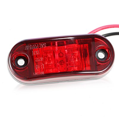 0.5W DC 9 - 30V 2 LED Truck Side Marker LightOthers Car Lights<br>0.5W DC 9 - 30V 2 LED Truck Side Marker Light<br><br>Available Light Color: Red,White,Yellow<br>Car light type: Side Marker Light<br>Features: Low Power Consumption<br>LED Qty : 2<br>LED Type: COB<br>Luminous Flux: 67Lm<br>Package Contents: 1 x Side Marker Light, 1 x Foam Tape, 1 x Screw Set<br>Package size (L x W x H): 12.00 x 8.00 x 3.00 cm / 4.72 x 3.15 x 1.18 inches<br>Package weight: 0.0400 kg<br>Product size (L x W x H): 6.60 x 2.80 x 2.00 cm / 2.6 x 1.1 x 0.79 inches<br>Product weight: 0.0230 kg<br>Sheathing Material: ABS<br>Wattage (W): 0.5
